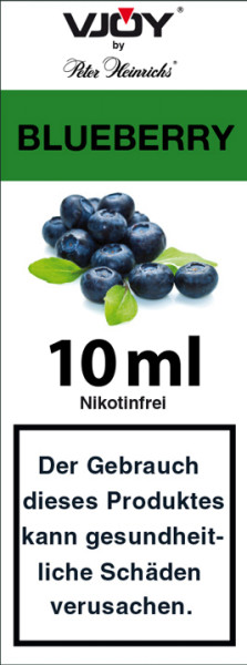 VJOY by Peter Heinrichs, Blueberry 0 mg Nikotin